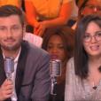 """Maxime Guény et Agathe Auproux dans """"TPMP ! Radio Baba"""", le 18 mai 2017 sur C8."""