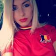Stéphanie Clerbois supportrice de la Belgique pendant l'Euro