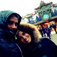 Antoine Griezmann et sa compagne Erika Choperena à Disneyland Paris fin 2014, photo Instagram.