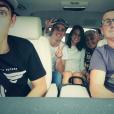 """Antoine Griezmann et sa compagne Erika Choperena avec la famille """"Grizi"""" en 2014, photo Instagram."""