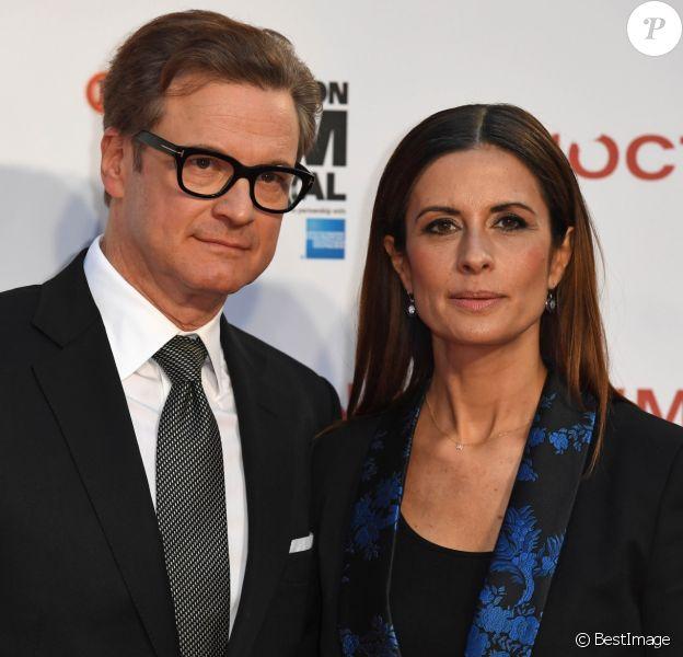 Colin Firth et sa femme Livia au photocall du film Nocturnal Animals au festival du film de Londres (BFI) le 14 octobre 2016.