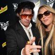 Loana Petrucciani et son ami Eryl Prayer (sosie de Elvis Presley) à la Villa Schweppes lors du 70ème Festival International du Film de Cannes Le 22 mai 2017. © Veeren/Bestimage