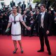 Carole Bouquet (en robe Chanel) et son compagnon Philippe Sereys de Rothschild -Montée des marches de la soirée du 70ème anniversaire du Festival de Cannes. Le 23 mai 2017. © Borde-Jacovides-Moreau / Bestimage
