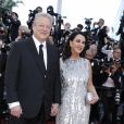 Al Gore et sa compagne Elizabeth Keadle -Montée des marches de la soirée du 70ème anniversaire du Festival de Cannes. Le 23 mai 2017. © Borde-Jacovides-Moreau / Bestimage