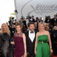 Sandrine Kiberlain, Emmanuelle Devos, Edouard Baer, Karin Viard à la montée des marches de la soirée du 70ème Anniversaire du Festival International du Film de Cannes, le 23 mai 2017. © Rachid Bellack/Bestimage