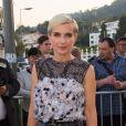 Melita Toscan du Plantier prenait part le 24 mai 2017 au dîner organisé par Chanel et Vanity Fair au restaurant  Tetou  à Golfe Juan en marge du 70e Festival de Cannes.
