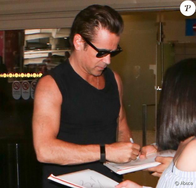 Colin Farrell arrive à l'aéroport de LAX à Los Angeles, le 25 mai 2017