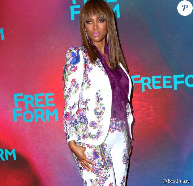 Tyra Banks lors de la soirée ''Freeform 2017 Upfront'' au Hudson Mercantile à New York, le 19 avril 2017.