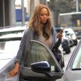 Exclusif - Tyra Banks prend un Uber à Beverly Hills, le 7 juin 2016.