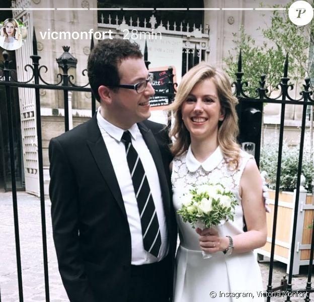 Isaure Monfort pose avec son mari, Erwan Le Razavet, à Paris, le 27 mai 2017.