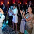 """Exclusif - Tal, Alessandra Sublet et Eva Longoria, présidente d'honneur de l'événement, était vêtue d'une création Marchesa, parée de bijoux Messika (partenaire officiel) et délicatement parfumée par """"Accord 119"""", senteurs de la Maison Caron (partenaire officiel), lors de la 8ème édition du dîner du Global Gift Gala à l'hôtel Four Seasons George V à Paris, France, le 16 mai 2017. P. Anderson a reçu The Global Gift Philantropist Award, O. Collins a reçu The Global Gift Philantropist Award et V. Messika a reçu The Global Gift Philanthropreneur Award. Cet événement est soutenu par les bijoux MESSIKA et les Parfums CARON, tous deux partenaires officiels. © Dominique Jacovides/Bestimage"""