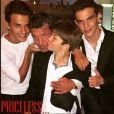 Benjamin Castaldi aux côtés de ses trois fils Julien, Simon et Enzo.