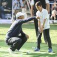 Tiger Woods participe au Golf Clinic for Children à Mexico City le 20 octobre 2015.