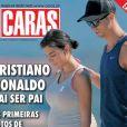 """La couverture du magazine """"Caras"""", avec Cristiano Ronaldo et Georgina Rodriguez (enceinte ?) lors d'une escapade en Corse. 30 mai 2017."""