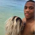 Mélanie Da Cruz et Anthony Martial en vacances à l'île Maurice. Mai 2017.