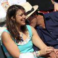 Marion Bartoli et son compagnon dans les tribunes lors de la demi-finale des Internationaux de tennis de Roland-Garros à Paris, le 5 juin 2015.
