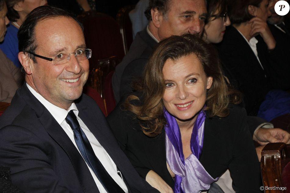 Valérie Trierweiler et François Hollande - Générale de la pièce Quadrille à Paris, le 12 décembre 2011