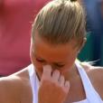 Kristina Mladenovic était au bord des larmes en raison de l'affection du public le 4 juin 2017 après sa qualification pour les quarts de finale de Roland-Garros en battant sur le court Suzanne-Lenglen la tenante du titre Garbiñe Muguruza (6-1, 3-6, 6-3).