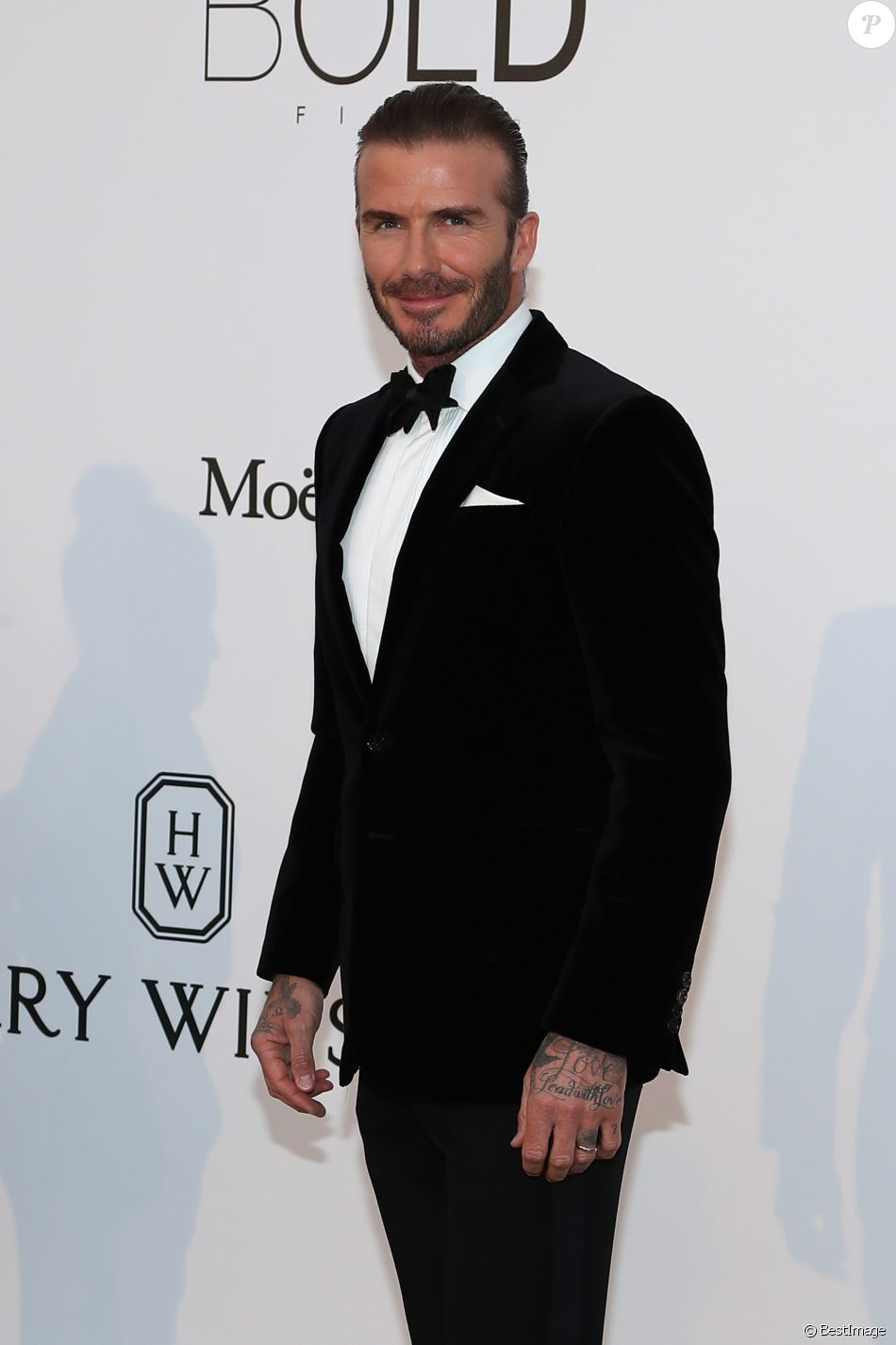 "David Beckham - Photocall de la soirée ""24th edition of AmfAR's Cinema Against AIDS"" Gala à l'hôtel de l'Eden Roc au Cap d'Antibes, le 25 mai 2017, lors du 70 ème Festival International du Film de Cannes. © Borde-Jacovides-Moreau / Bestimage"