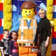 """Jaime Pressly et son fils Dezi James Calvo - Premiere du film """"La Grande Aventure Lego"""" a Westwood, le 1er février 2014."""