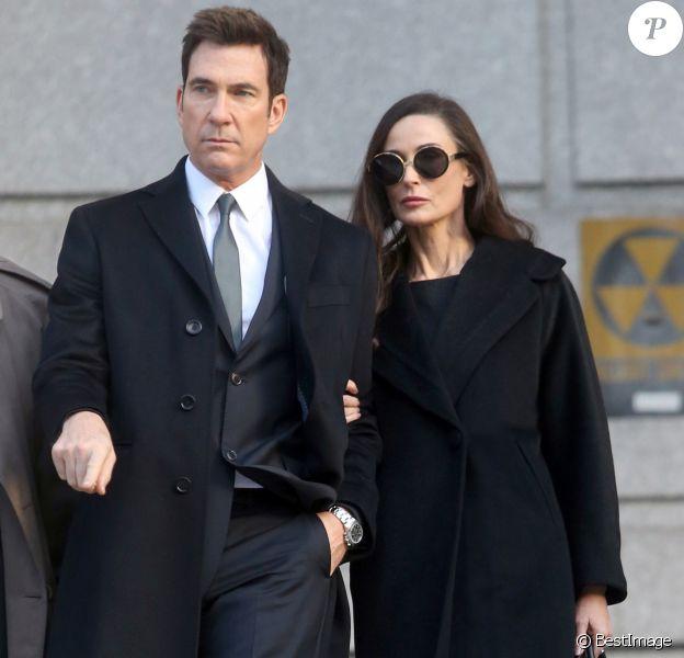 Demi Moore et Dylan McDermott sur le tournage du film 'Blind' à New York, le 17 novembre 2015