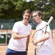 Florian Gazan et Grégory Ascher lors de la deuxième journée du Trophée des Personnalités de Roland-Garros le 7 juin 2017.