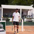 Frédéric Lerner lors de la troisième journée du Trophée des Personnalités de Roland-Garros le 8 juin 2017.