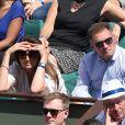 Pierre Sled et sa compagne dans les tribunes des Internationaux de Tennis de Roland Garros à Paris le 8 juin 2017 © Cyril Moreau-Dominique Jacovides/Bestimage