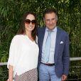Pierre Sled et sa compagne au village des Internationaux de Tennis de Roland Garros à Paris le 8 juin 2017 © Cyril Moreau-Dominique Jacovides/Bestimage