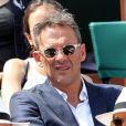 Julien Courbet dans les tribunes des internationaux de France de tennis de Roland Garros à Paris le 8 juin 2017 © Dominique Jacovides / Cyril Moreau / Bestimage