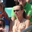 Martina Hingis dans les tribunes des internationaux de France de tennis de Roland Garros à Paris le 8 juin 2017 © Dominique Jacovides / Cyril Moreau / Bestimage
