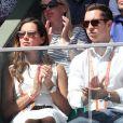 Ana Ivanovic et son frère Milos dans les tribunes des internationaux de France de tennis de Roland Garros à Paris le 8 juin 2017 © Dominique Jacovides / Cyril Moreau / Bestimage