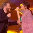 Nolwenn Leroy interprétant As avec Nicola Cavallaro sur le plateau de The Voice sur TF1 le 10 juin 2017 pour la finale (capture d'écran)