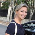 """Exclusif - Anne-Sophie Lapix arrive à l'émission """"Vivement dimanche prochain"""" de Michel Drucker à Paris le 28 septembre 2016. © Agence / Bestimage"""