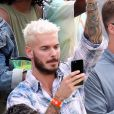 M. Pokora dans les tribunes des internationaux de France de Roland Garros à Paris le 30 mai 2017. © Cyril Moreau / Dominique Jacovides / Bestimage
