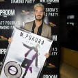 """Exclusif - Matt Pokora (M. Pokora) reçoit son disque de diamant (500.000 albums) au restaurant la """"Gioia"""" à Paris, le 10 mai 2017. © Rachid Bellak/Bestimage"""