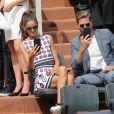 Kevin Trapp et Izabel Goulart assistent à la finale simple messieurs de Roland-Garros (Stanislas Wawrinka v Rafael Nadal) à Paris le 11 juin 2017. © Dominique Jacovides-Cyril Moreau/Bestimage