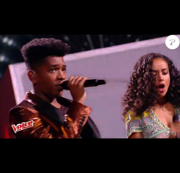Les quatre talents ont ouvert la finale de The Voice 6 avec I feel it coming, de The Weeknd et Daft Punk, sur TF1 le 10 juin 2017.