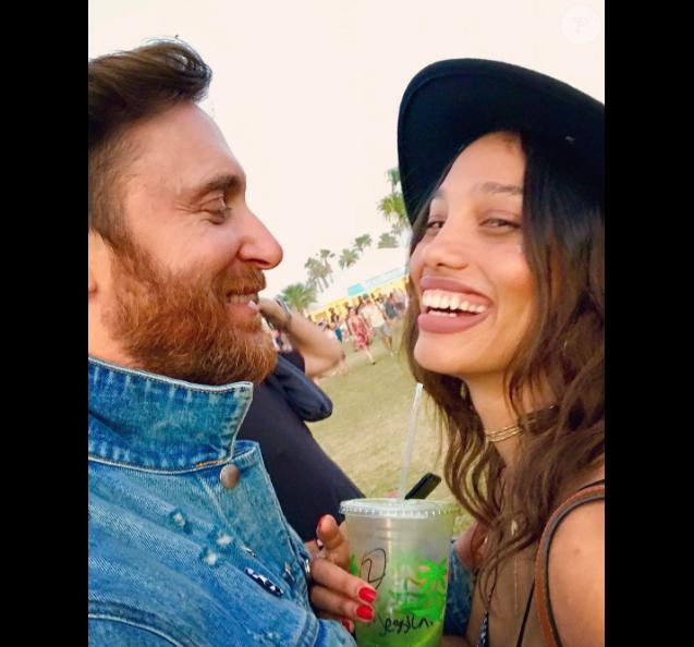 David Guetta et Jessica Ledon à Coachella le 22 avril 2017