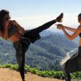Jessica Ledon et une amie à Los Angeles le 5 mars 2017
