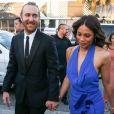 Le DJ David Guetta et sa compagne Jessica Ledon - Arrivées au mariage d'Isabela Rangel et David Grutman à Miami le 23 avril 2016. Celebrities seen arrive at Isabela Rangel and David Grutman's wedding in Miami, Florida on April 23, 2016 in Miami Beach, Florida.23/04/2016 - Miami