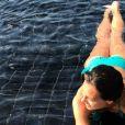 Marine Lorphelin en vacances en Thaïlande, le 18 juin 2017.