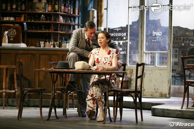 Francis Huster et Charlotte Kady dans Cesar, Fanny et Marius