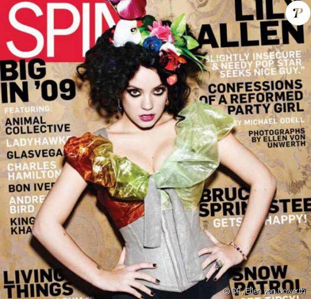 Lily Allen a réussi sa métamorphose ! Ici, en couverture du magazine Spin