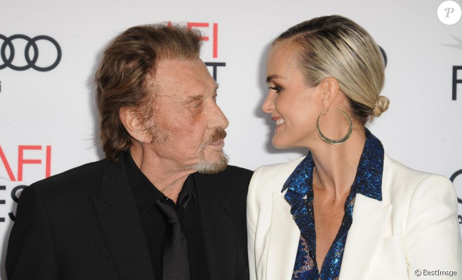johnny hallyday et sa femme laeticia hallyday la premi re de rules don 39 t apply los angeles. Black Bedroom Furniture Sets. Home Design Ideas