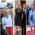 Différents looks de la première dame de France Brigitte Macron - 2017 (photomontage)