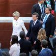 NO WEB - Le président français Emmanuel Macron et sa femme Brigitte Macron (Trogneux) (habillée en Louis Vuitton) - Concert au théâtre grec de Taormine dans le cadre du sommet du G7 en Sicile le 26 mai 2017 © Sébastien Valiela / Bestimage