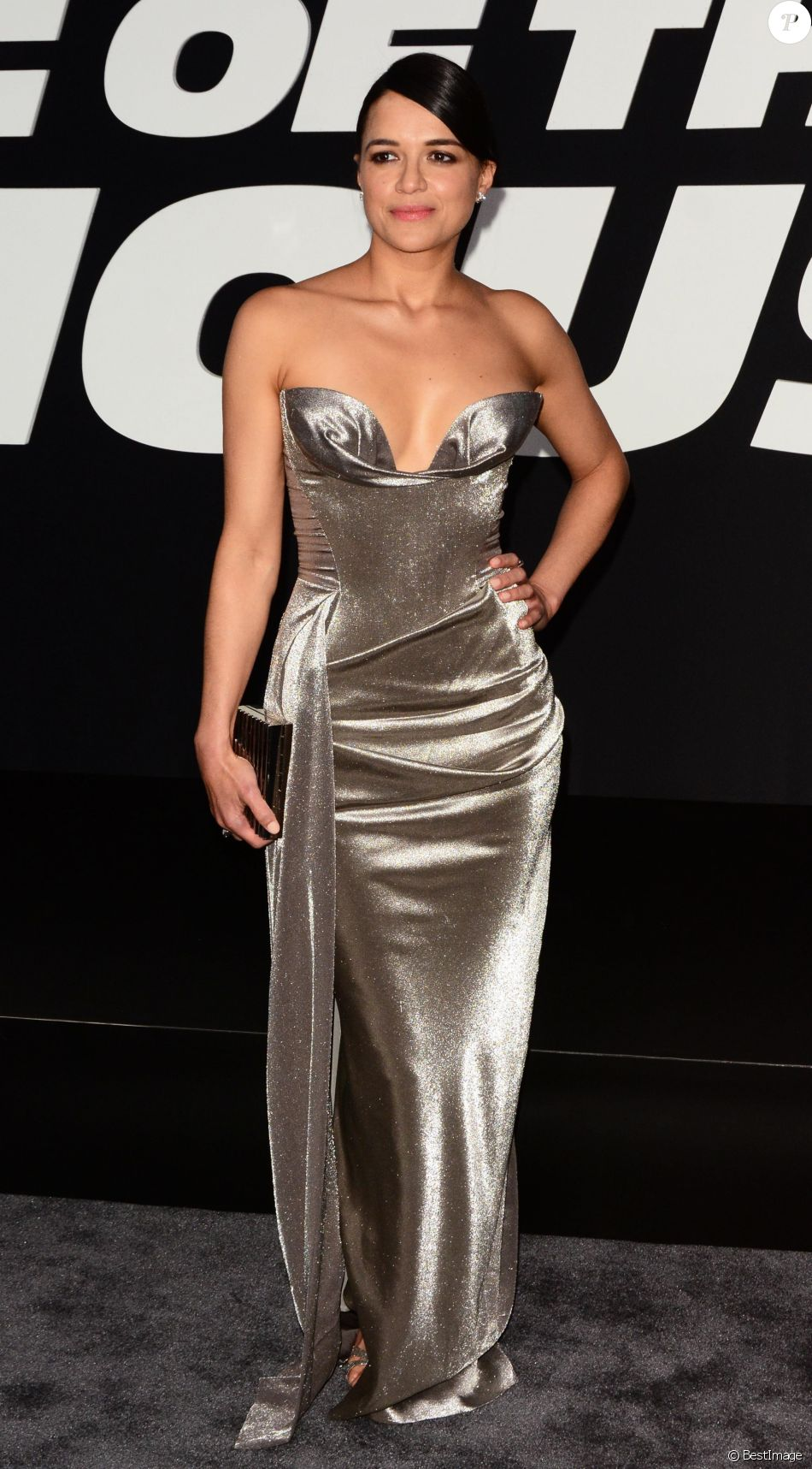 Michelle Rodriguez à la première du film 'Fate Of The Furious' à New York, le 8 avril 2017