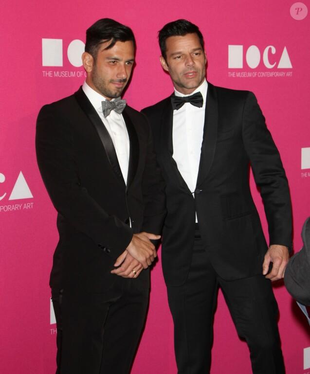 "Ricky Martin et son fiancé Jwan Yosef - Tapis rouge du "" MOCA Gala 2017 "" à Los Angeles Le 29 avril 2017 © CPA / Bestimage"