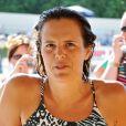 Exclusif - Laure Manaudou replonge pour le 8ème meeting de natation de Carcassonne le 28 juin 2015.